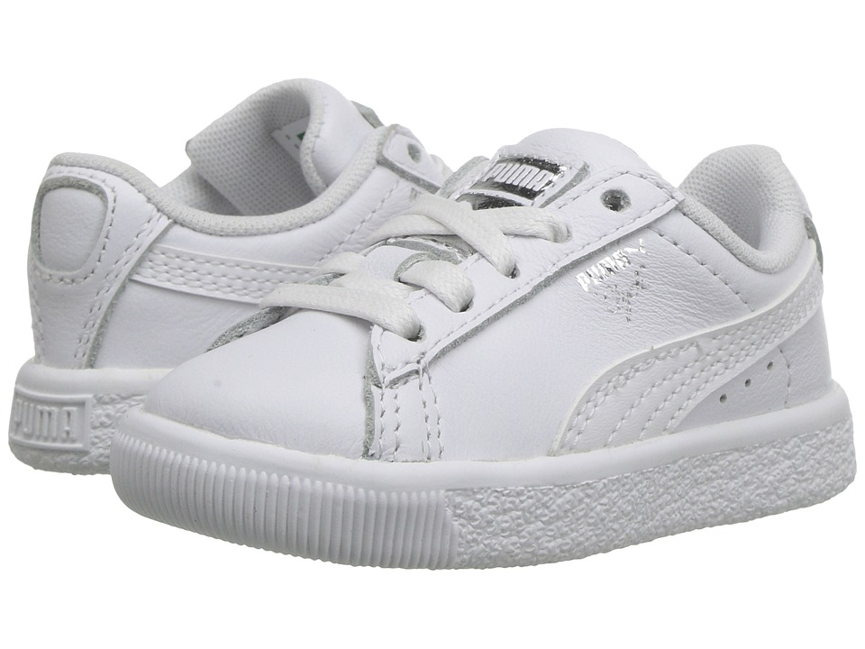 Puma Kids Clyde Core L Foil (Big Kid) (Puma White/Puma White) Boys Shoes