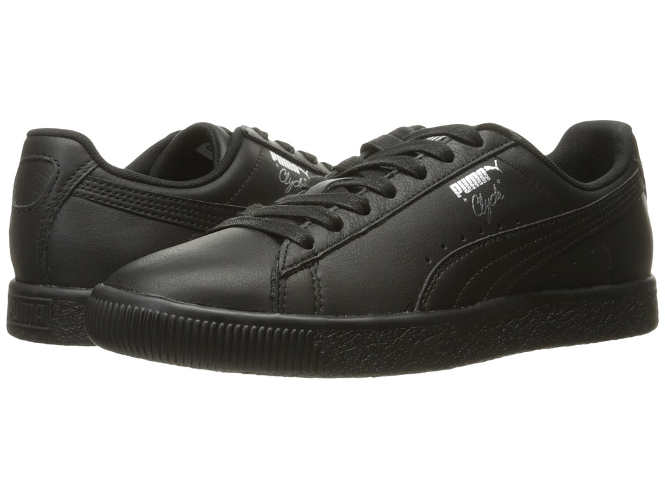 Puma Kids - Clyde Core L Foil (Big Kid) (Puma Black/Puma Black) Boys Shoes