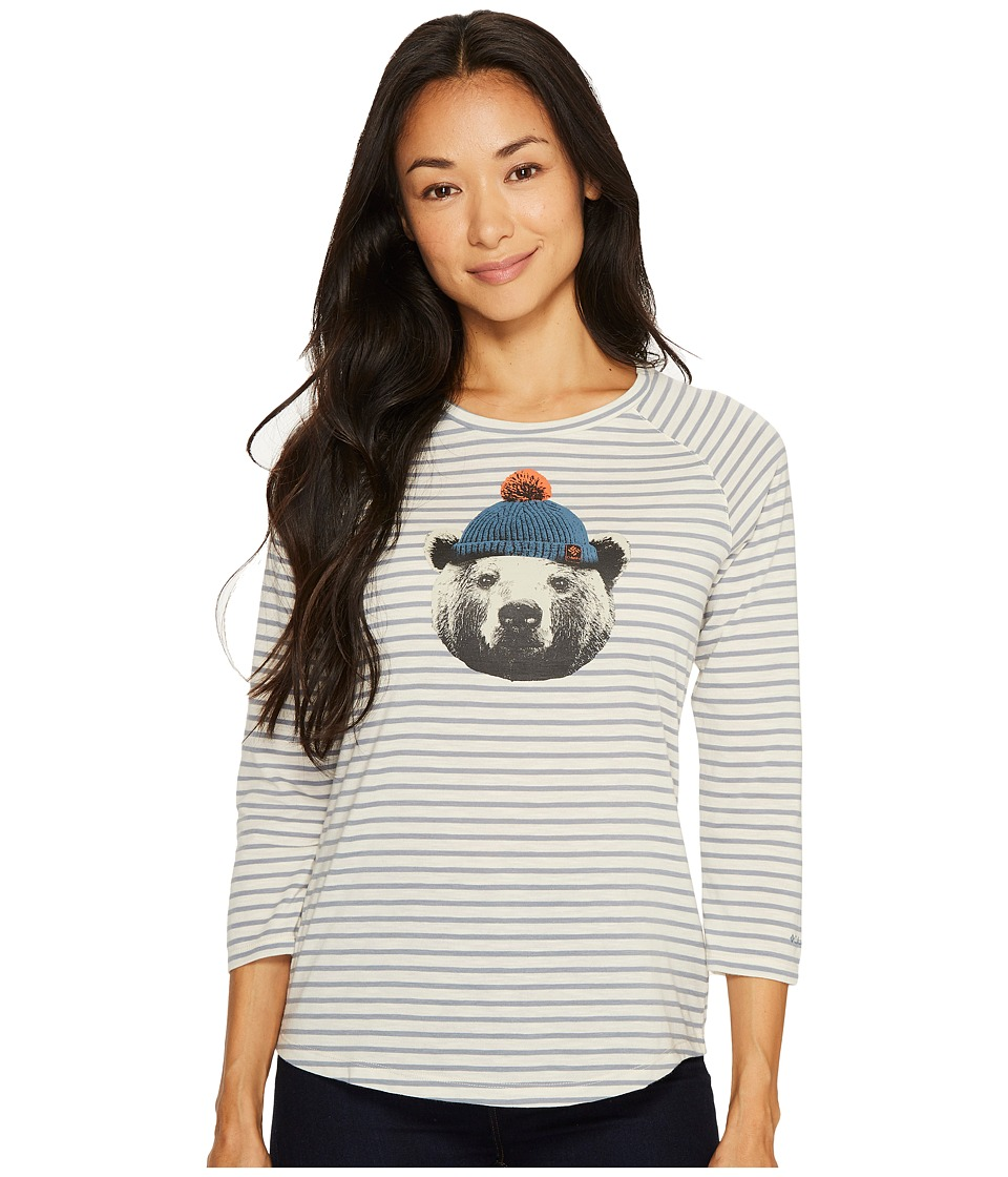 Columbia - Unbearable Stripe Tee (Chalk Stripe) Women's T Shirt