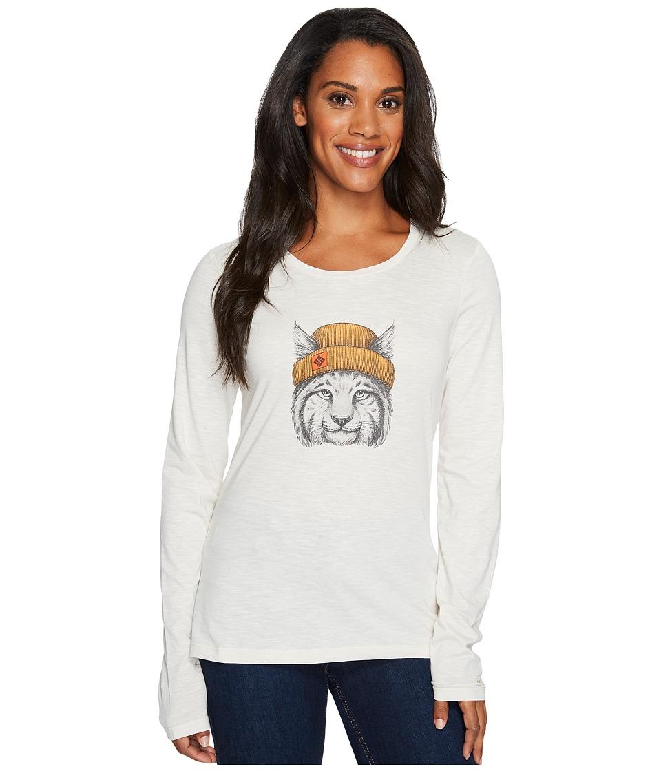 Columbia - Feline Groovytm Long Sleeve Tee (Chalk) Women's Long Sleeve Pullover
