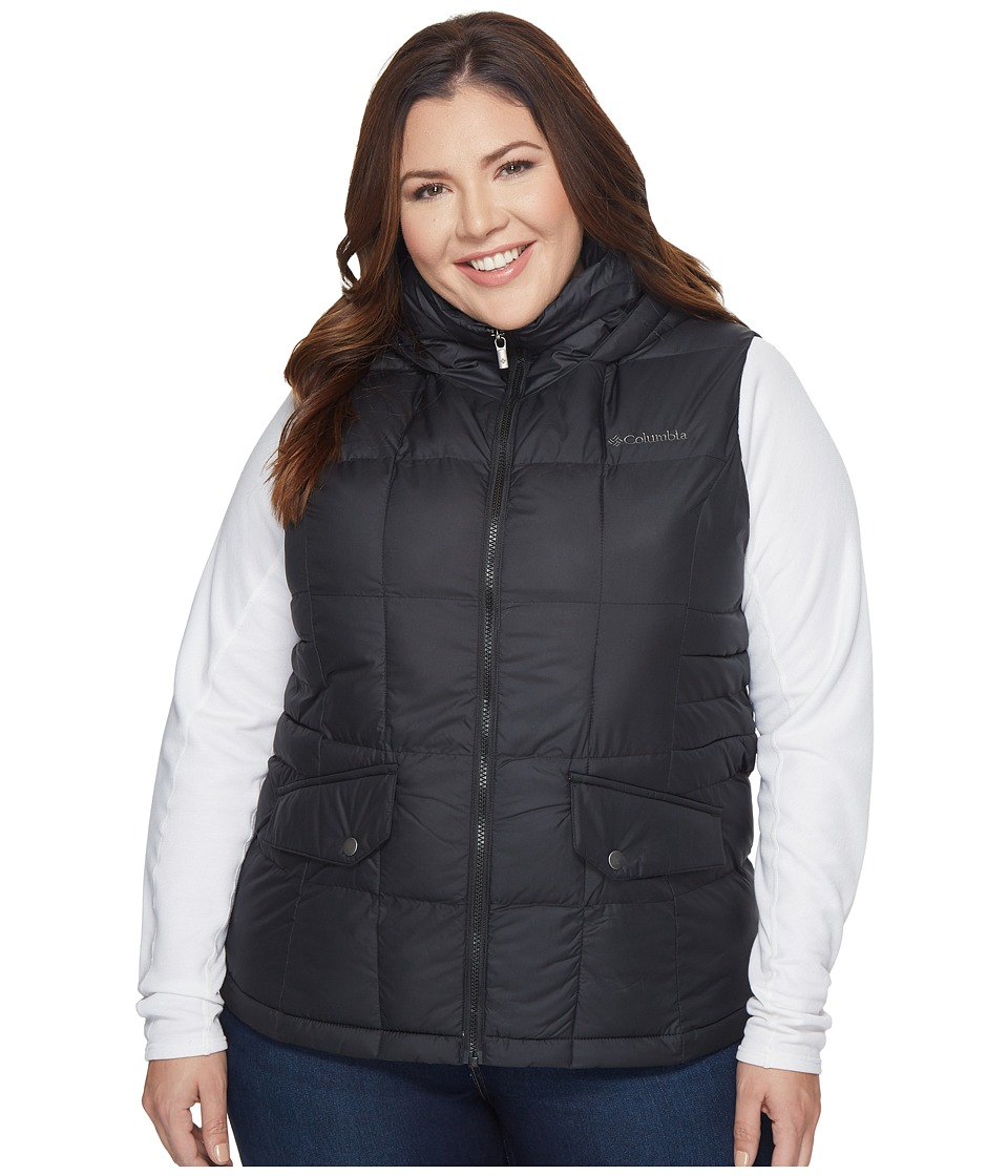 Columbia - Plus Size Lone Creek Hooded Vest (Black) Women's Vest