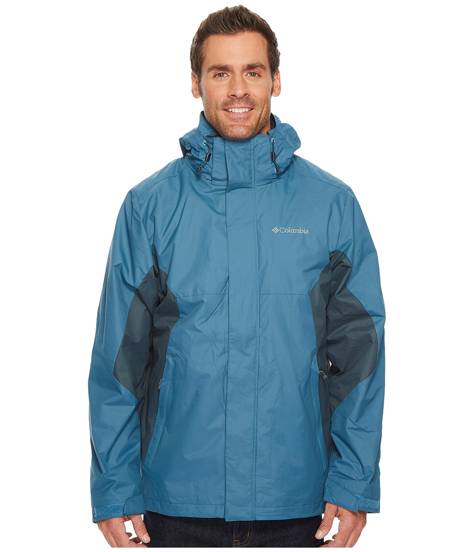 Columbia - Eager Air Interchange Jacket (Blue Heron/Mystery) Men's Coat