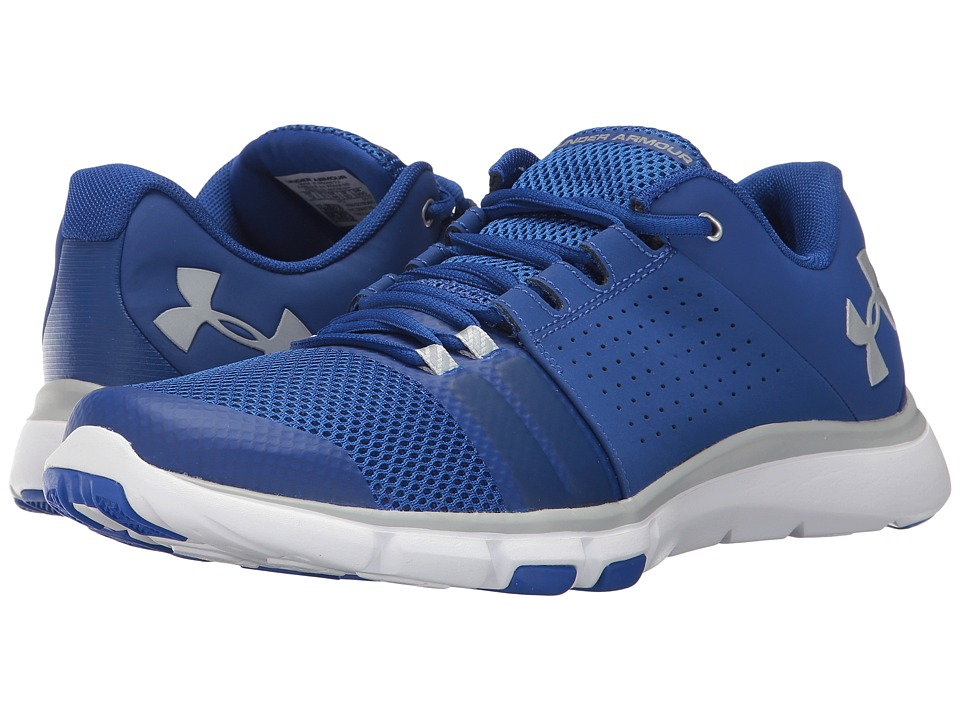 Under Armour - UA Strive 7 (Royal/White/Metallic Silver) Men's Cross Training Shoes