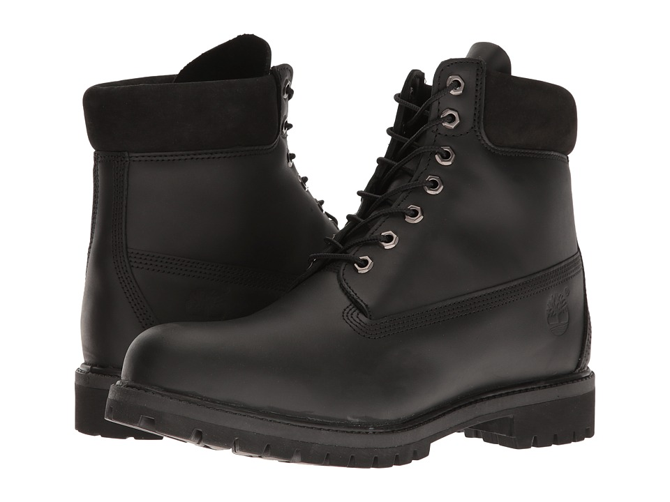 Timberland - 6 Premium Boot (Black Smooth) Men's Boots
