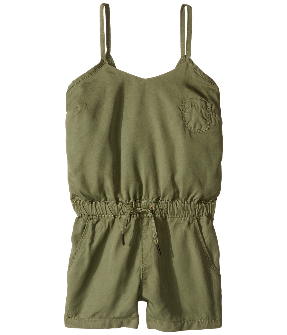 Blank NYC Kids - Romper w/ Eyelet Detail in Olive (Big Kids) (Olive) Girl's Jumpsuit & Rompers One Piece