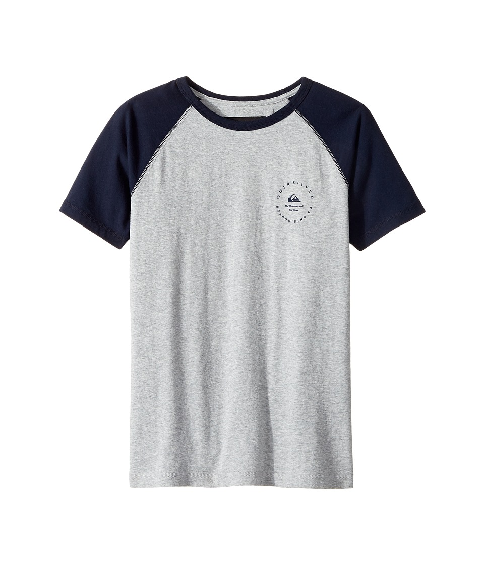 Quiksilver Kids - Alo Nah Tee (Big Kids) (Light Grey Heather) Boy's T Shirt