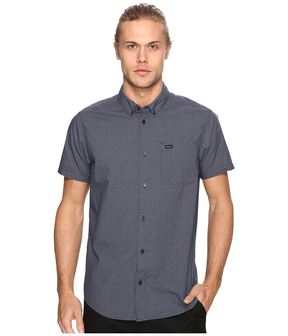 RVCA - That'll Do Micro Short Sleeve (Federal Blue) Men's Clothing