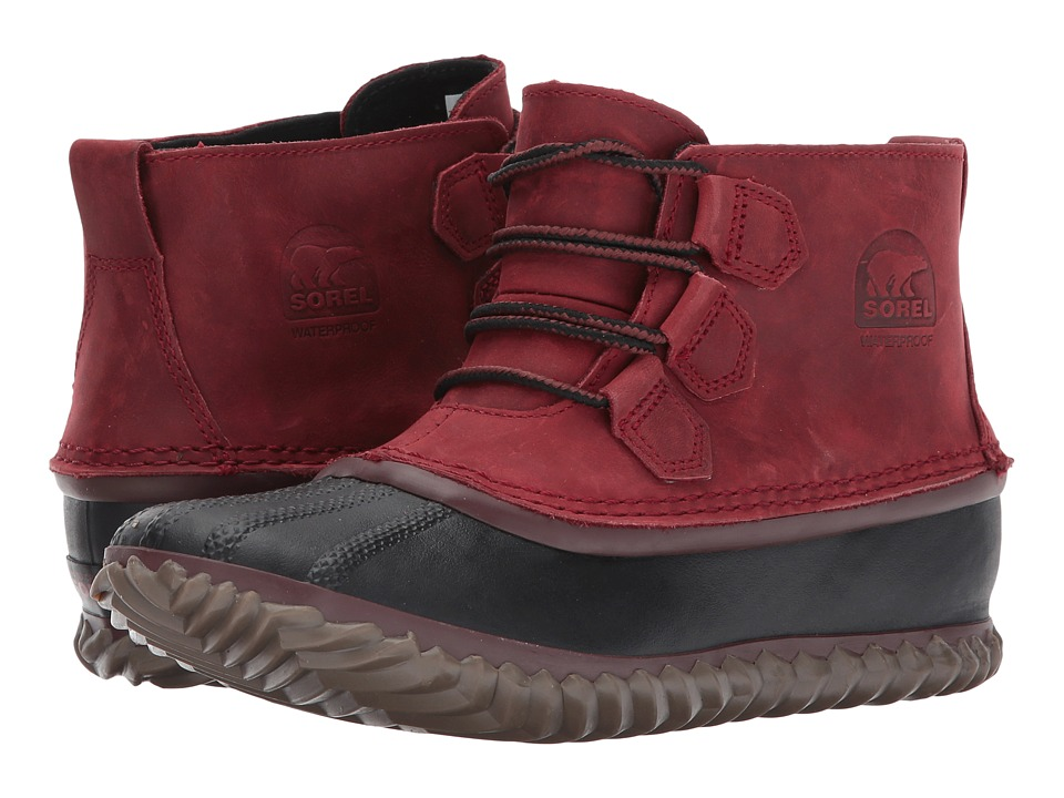 SOREL Out N About Leather (Red Element) Women