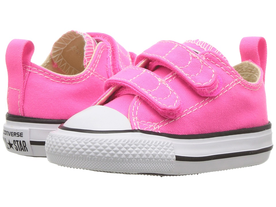 Converse Kids - Chuck Taylor All Star 2V Ox (Infant/Toddler) (Pink Pow/Natural/White) Girl's Shoes