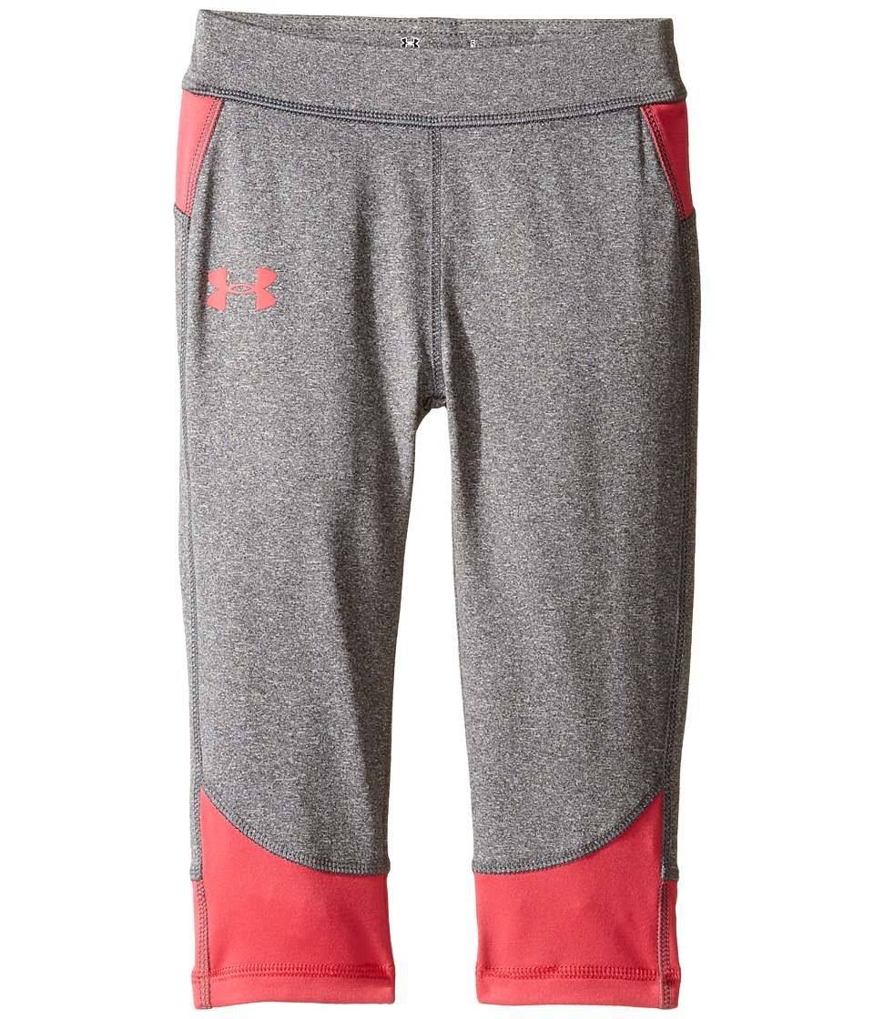 Under Armour Kids - Studio Capris (Little Kids) (Rhino Gray) Girl's Capri