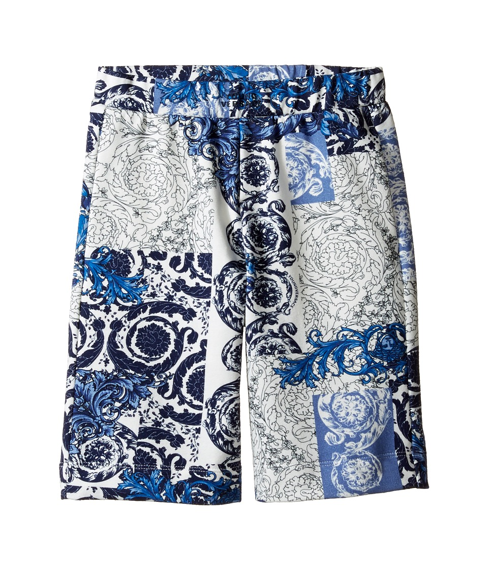 Versace Kids - All Over Barocco Print Sweatshorts (Toddler/Little Kids) (Multi) Boy's Shorts