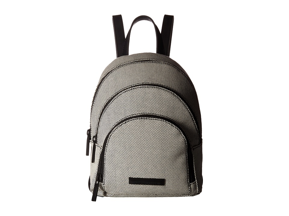 KENDALL + KYLIE - Sloane Mini Canvas (Black/White) Backpack Bags