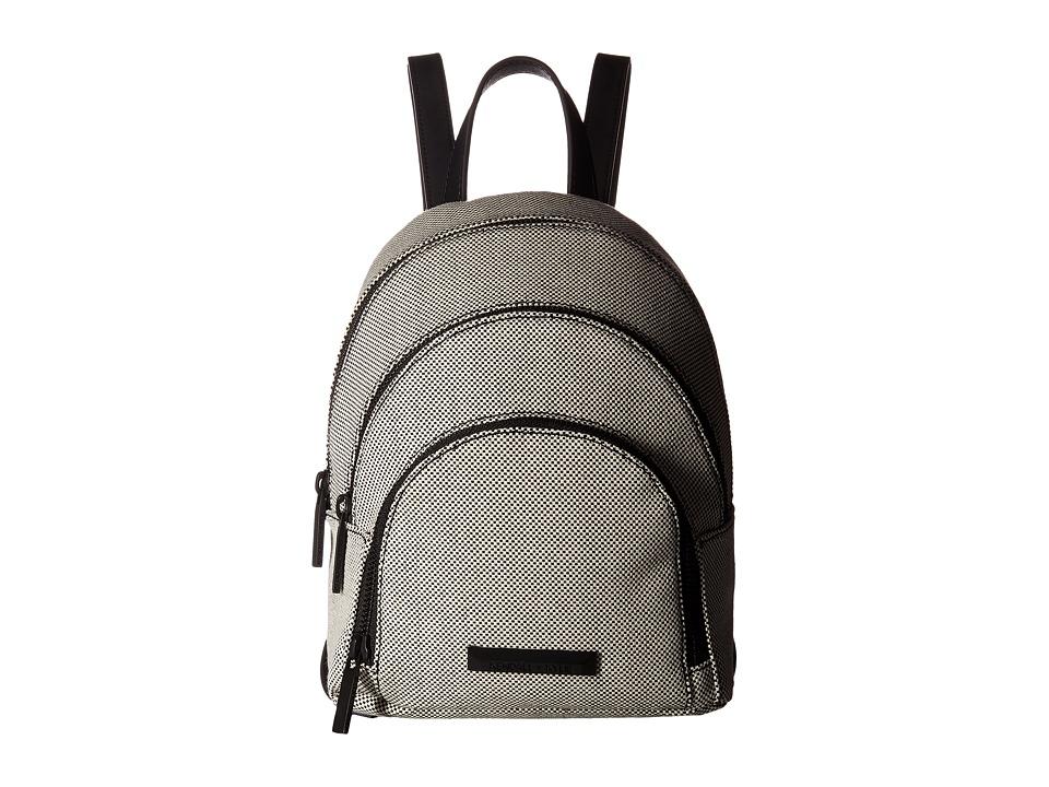 KENDALL + KYLIE - Sloane Mini Canvas (Black/White) Backpack Bags