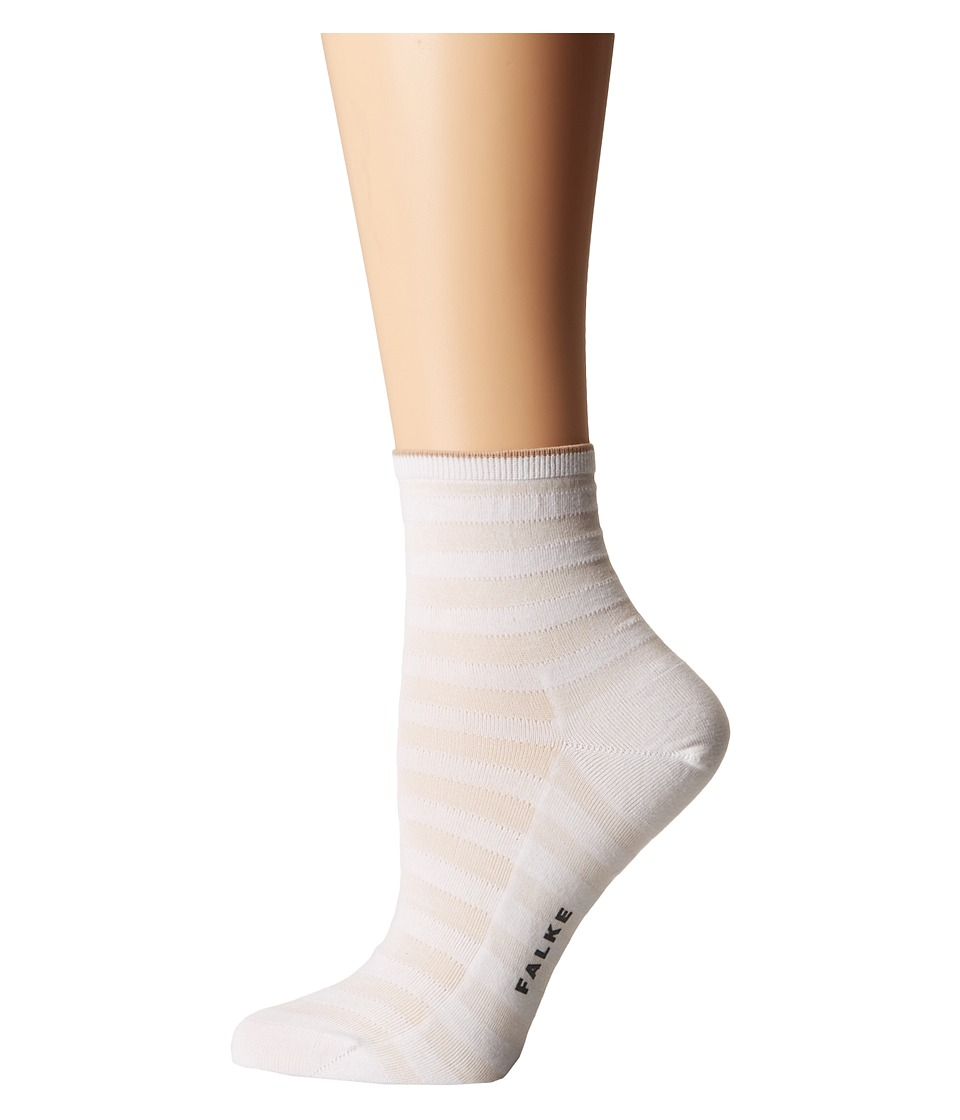 Falke - Poplin Anklet Short Socks (White) Women's Crew Cut Socks Shoes