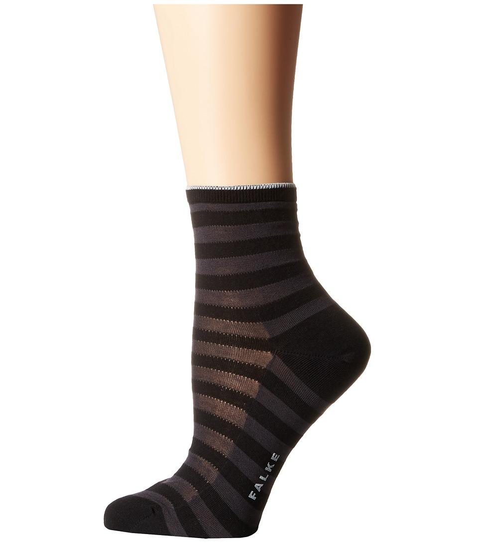 Falke - Poplin Anklet Short Socks (Black) Women's Crew Cut Socks Shoes