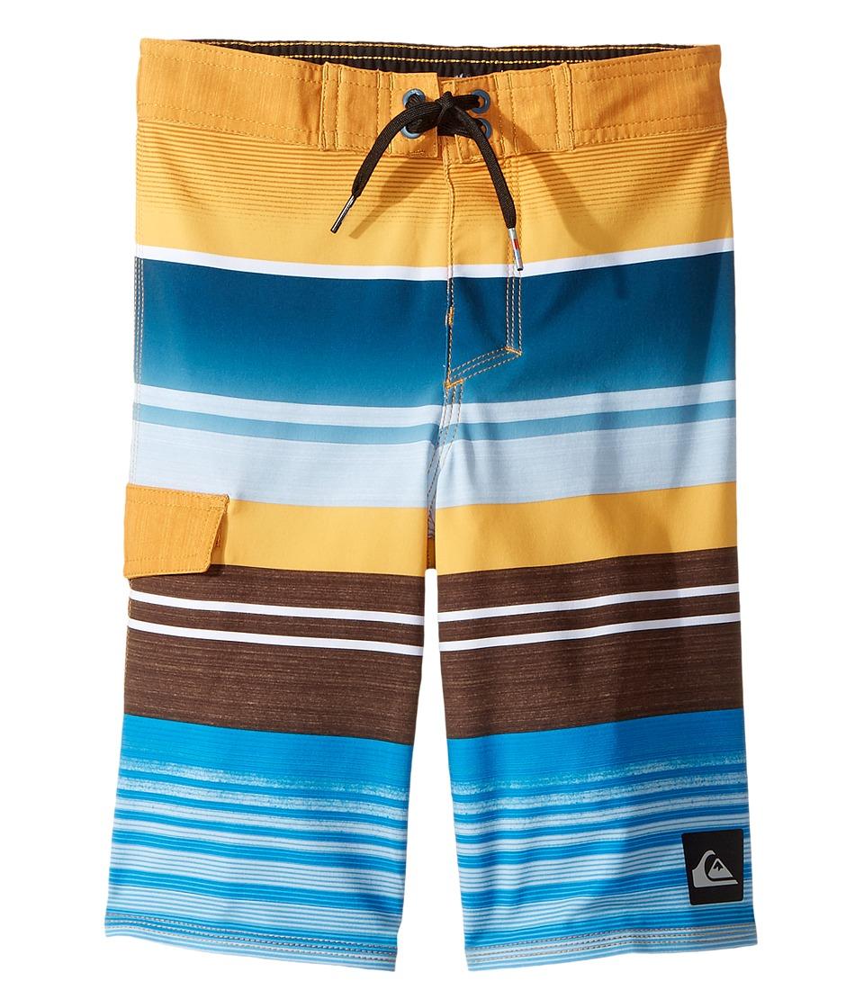 Quiksilver Kids Everyday Stripe Boardshorts (Toddler/Little Kids) (Artisan Gold) Boy