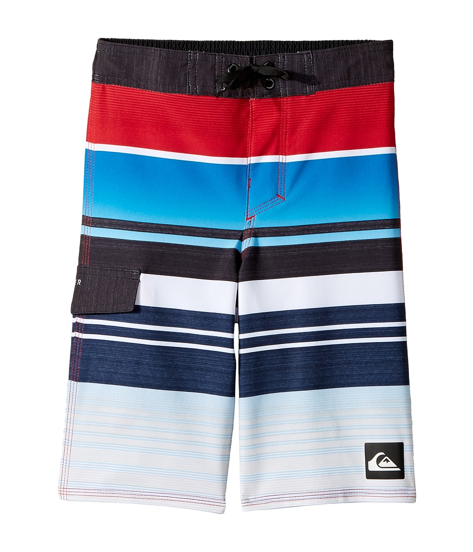 Quiksilver Kids - Everyday Stripe Boardshorts (Toddler/Little Kids) (Chilli Pepper) Boy's Swimwear