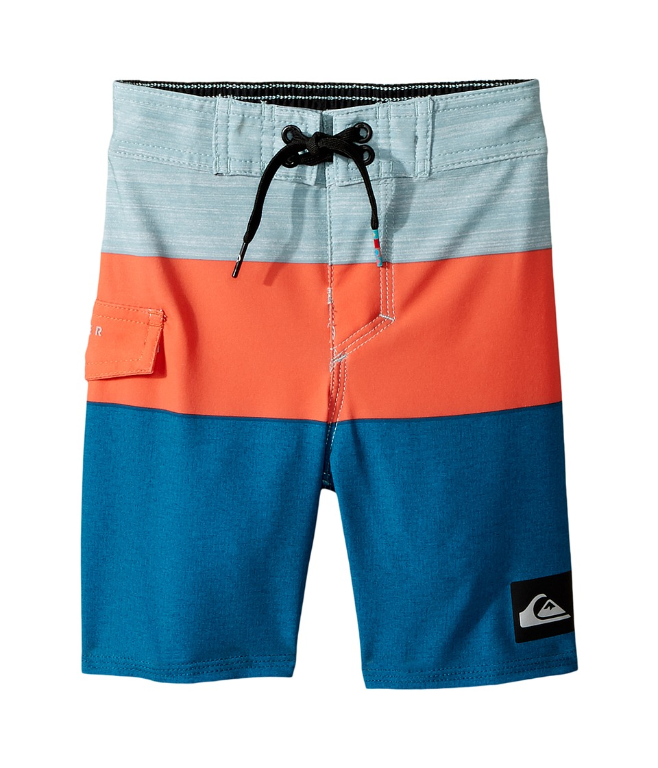 Quiksilver Kids - Everyday Blocked Boardshorts (Toddler/Little Kids) (Moroccan Blue) Boy's Swimwear