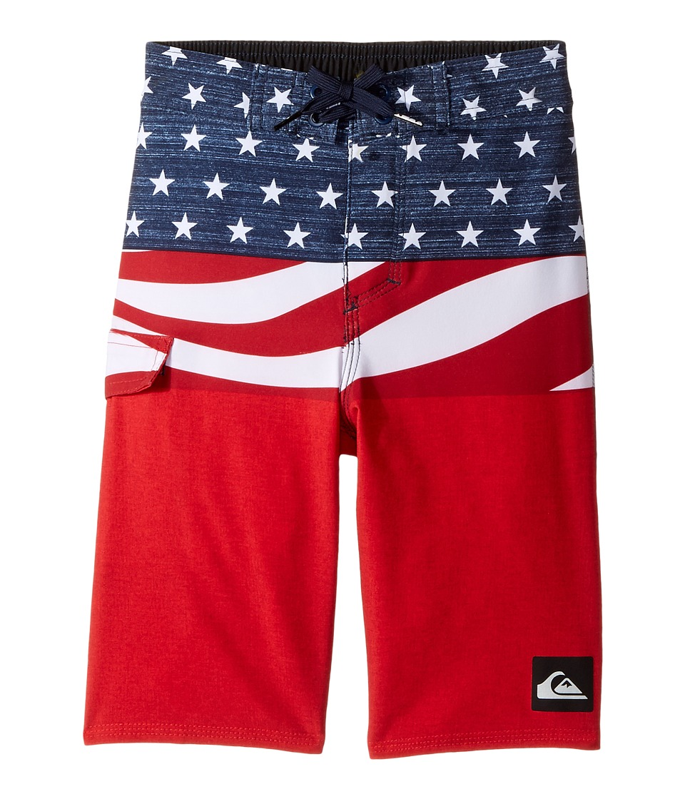 Quiksilver Kids - Everyday Blocked Boardshorts (Toddler/Little Kids) (Quik Red) Boy's Swimwear