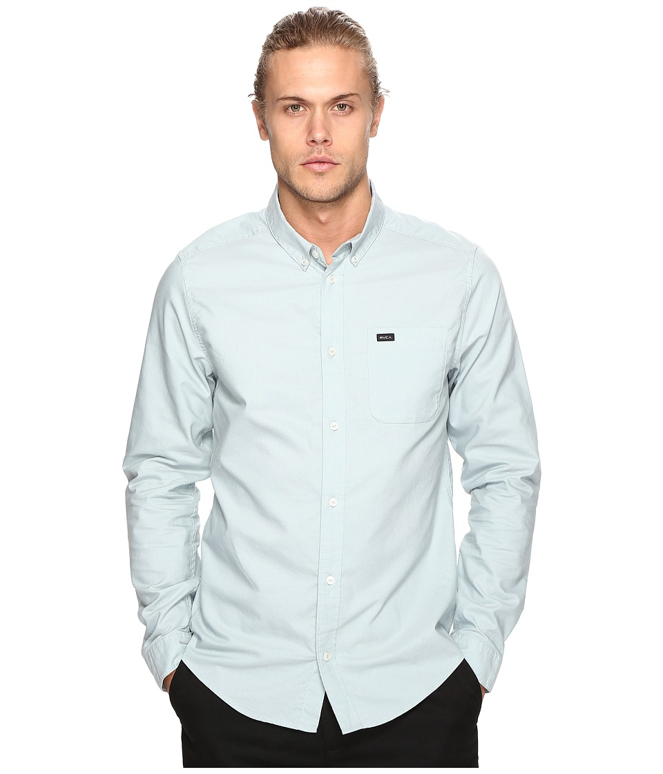 RVCA - That'll Do Oxford Long Sleeve (Cosmos) Men's Long Sleeve Button Up