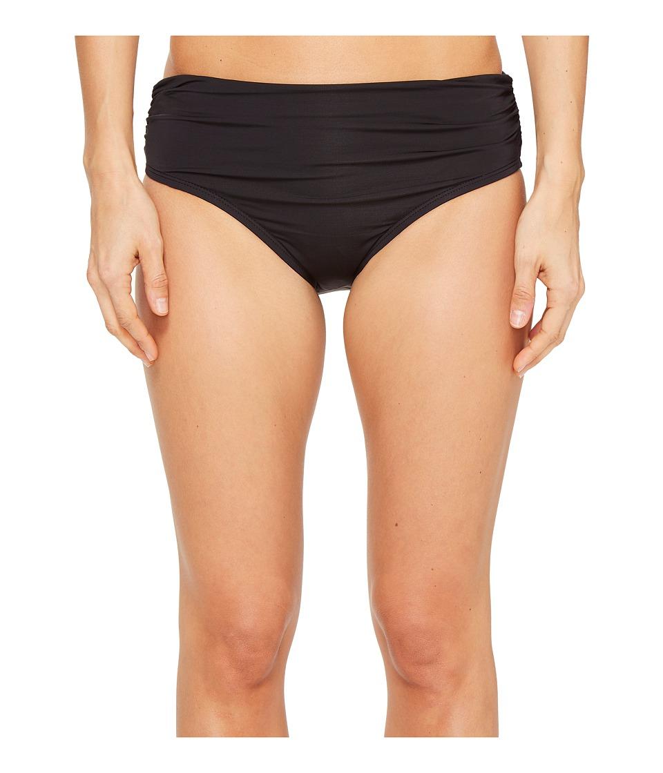 Kenneth Cole - Shirred Bikini Bottom (Black) Women's Swimwear