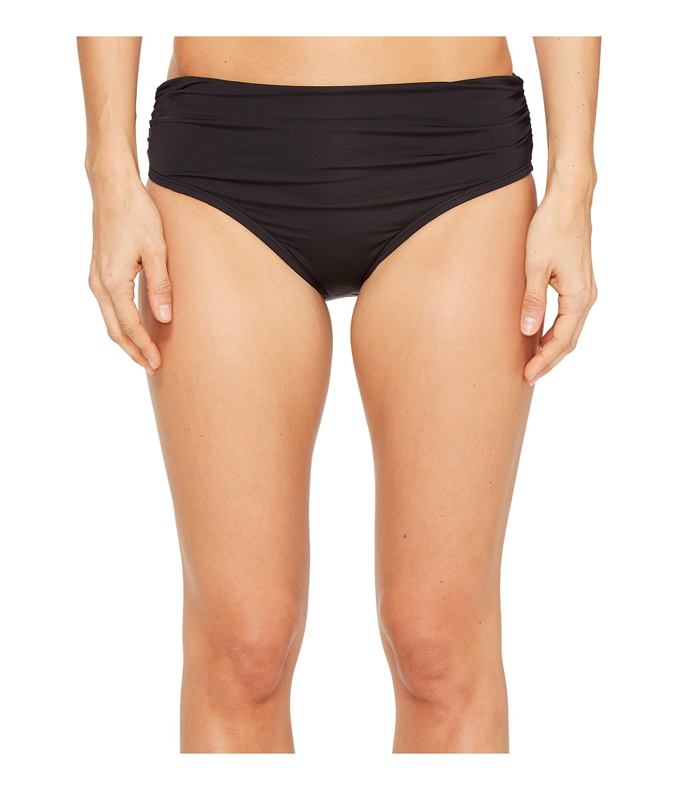 Kenneth Cole Shirred Bikini Bottom (Black) Women