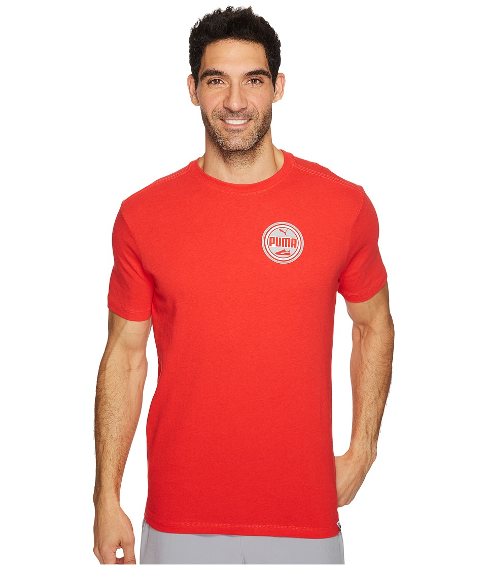 PUMA - Suede Walker Tee (PUMA Red/Quiet Shade) Men's T Shirt
