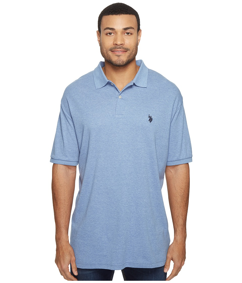U.S. POLO ASSN. - Solid Interlock Polo (Light Blue Heather) Men's Short Sleeve Knit