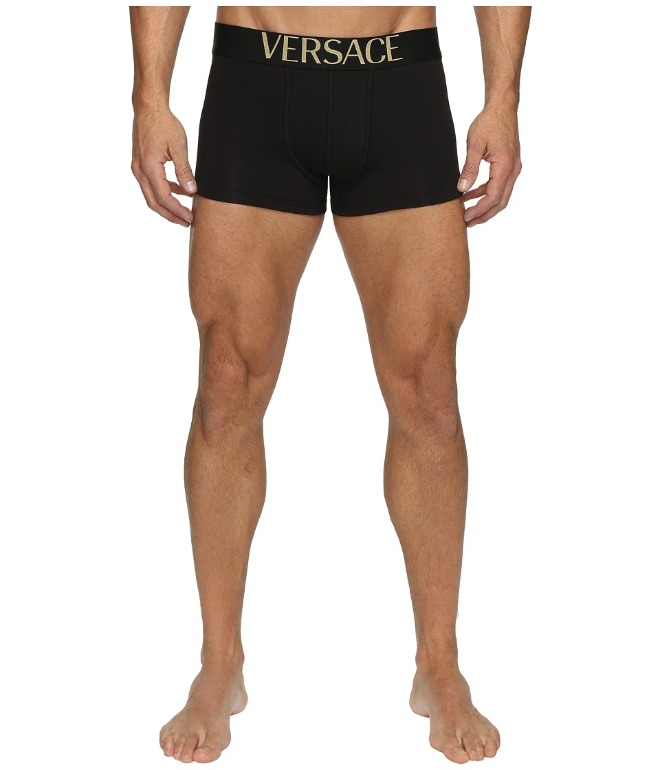 Versace - Apollo Low Rise Trunk (Black) Men's Underwear