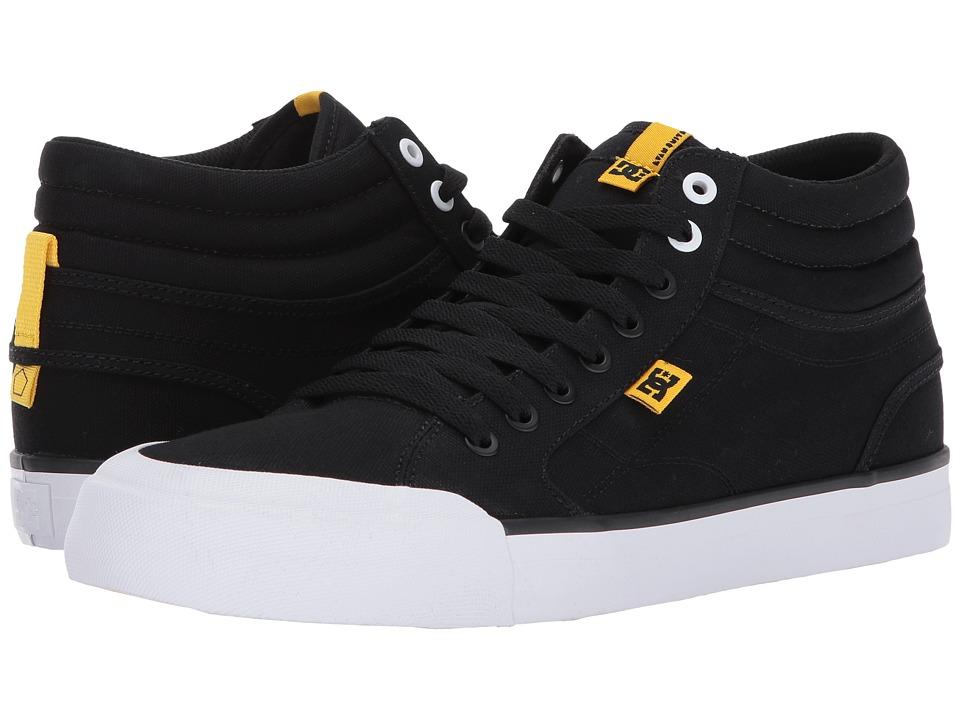 DC - Evan Smith Hi TX (Black/White/Yellow) Men's Skate Shoes