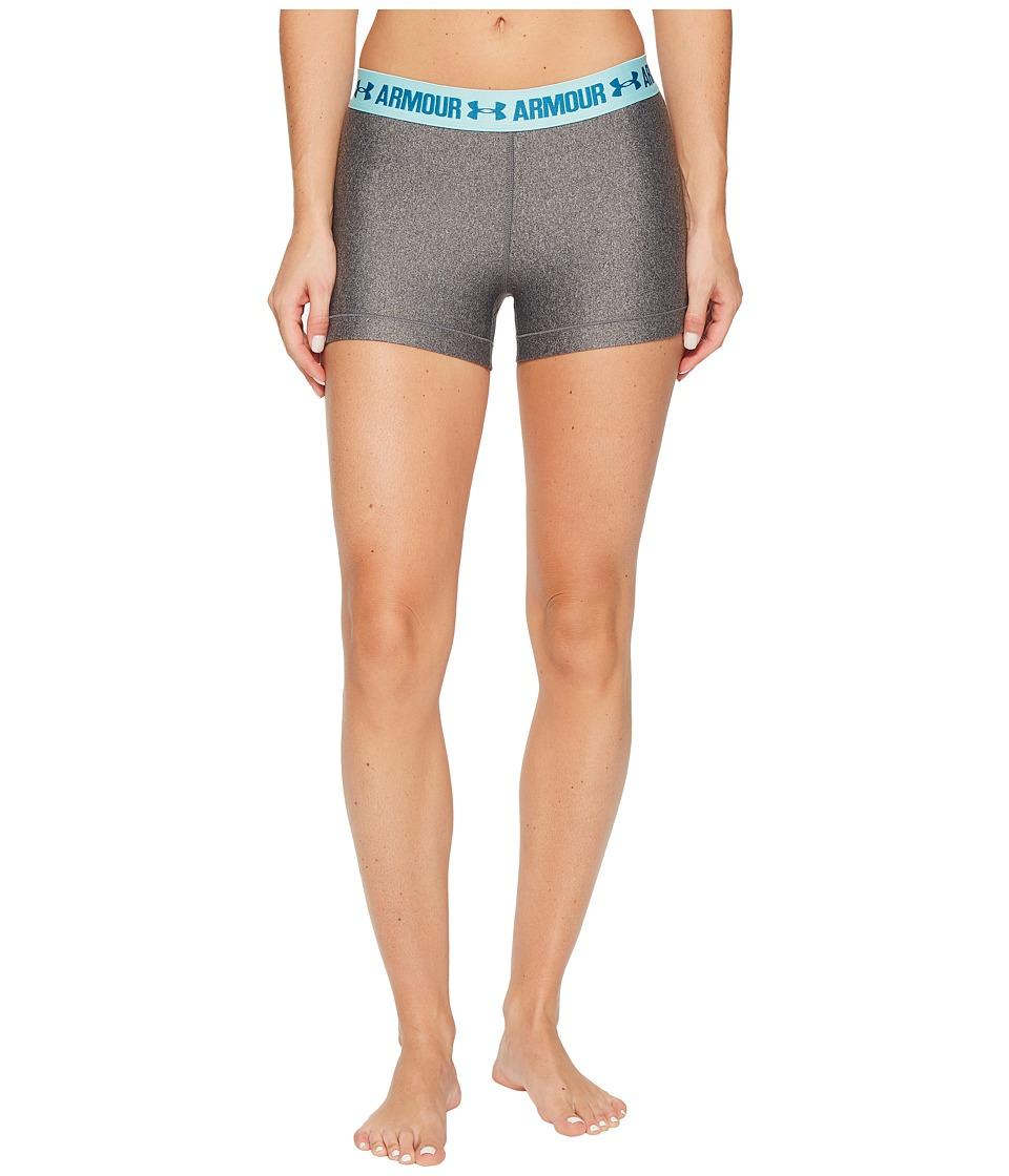 Under Armour - UA HeatGear(r) Armour Shorty (Carbon Heather 2) Women's Shorts