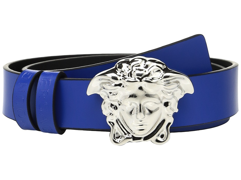 Versace Kids - Leather Belt with Medusa Buckle (Toddler/Little Kids) (Green) Boy's Belts