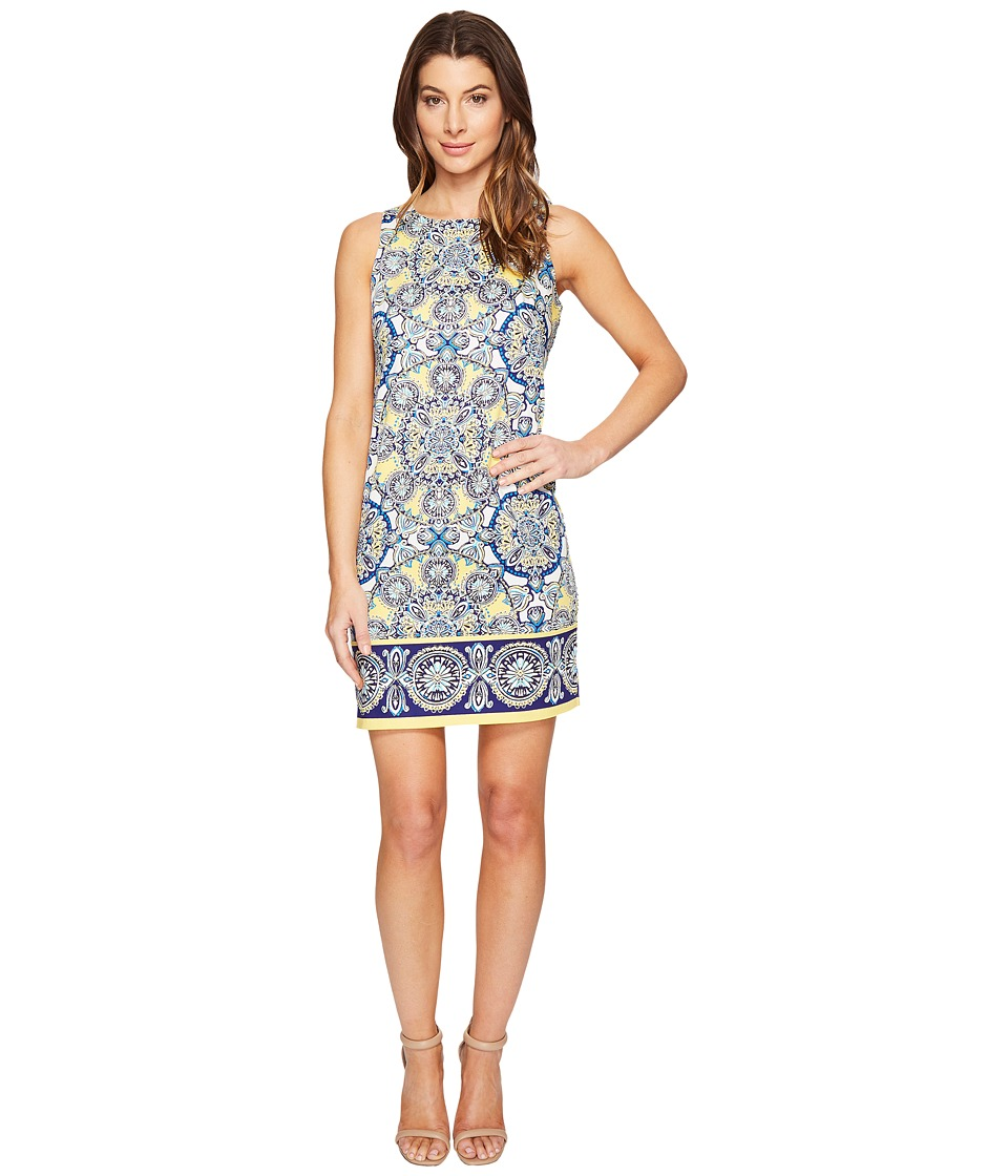 London Times Medallion Medley Sleeveless Sheath Dress (Buttercup) Women