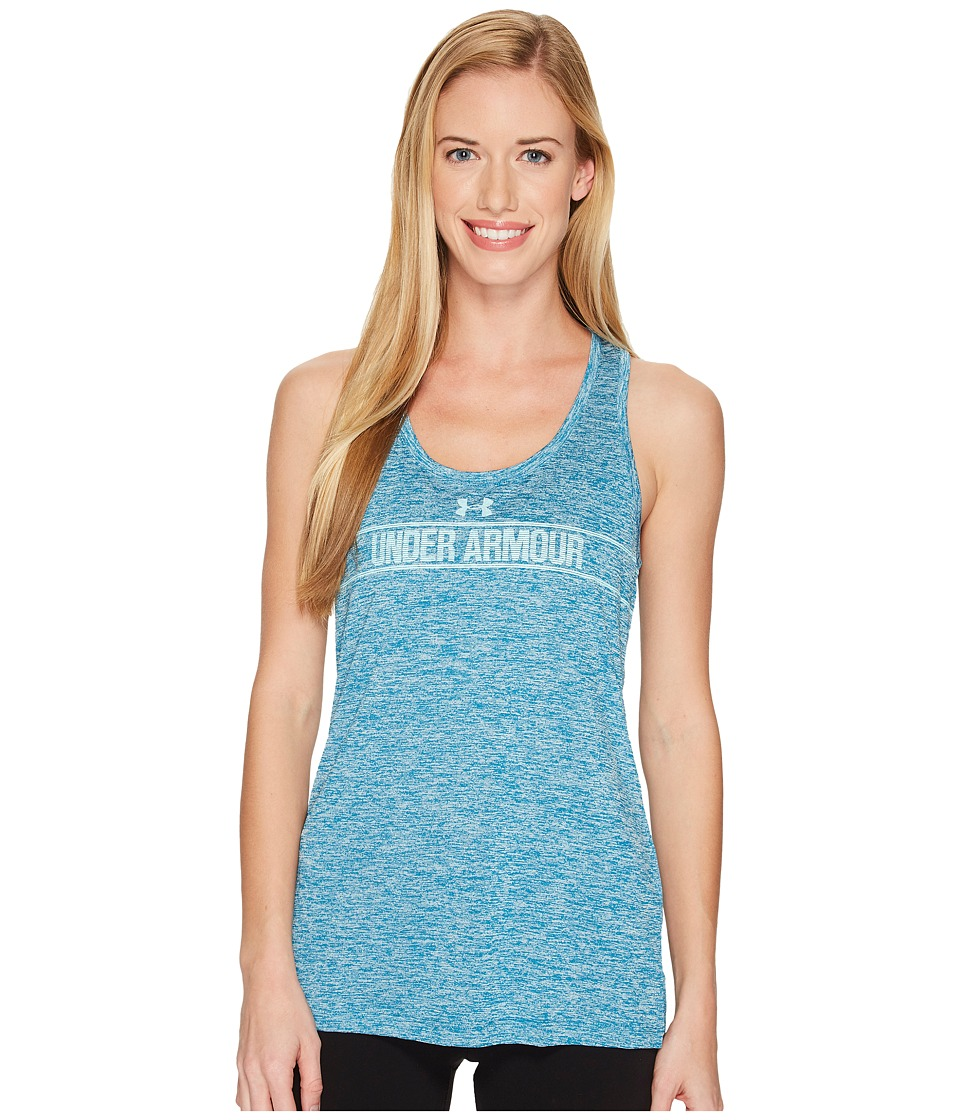Under Armour - Tech Tank Top - Graphic Twist (Bayou Blue) Women's Sleeveless