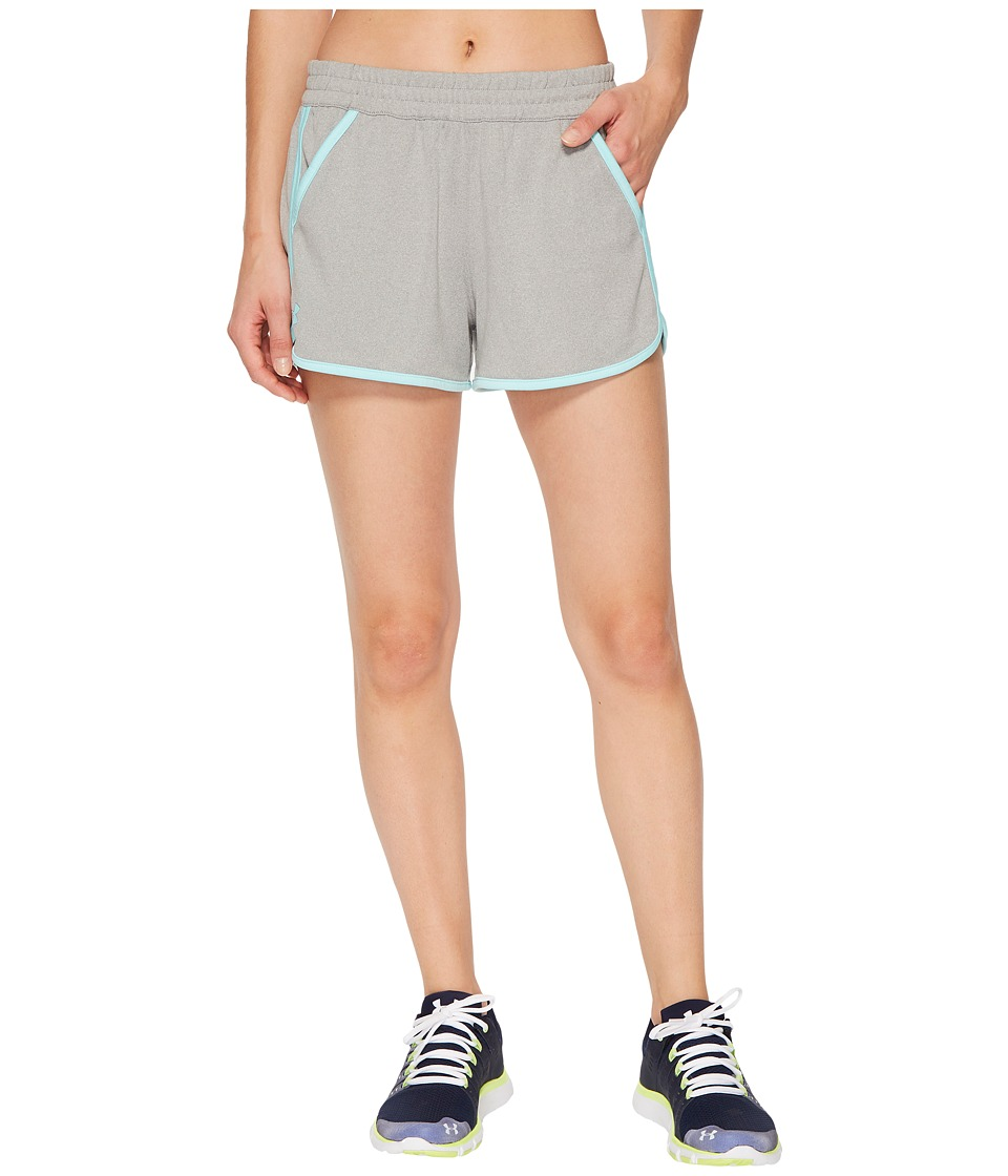 Under Armour - Tech Shorts 2.0 (True Gray Heather 1) Women's Shorts