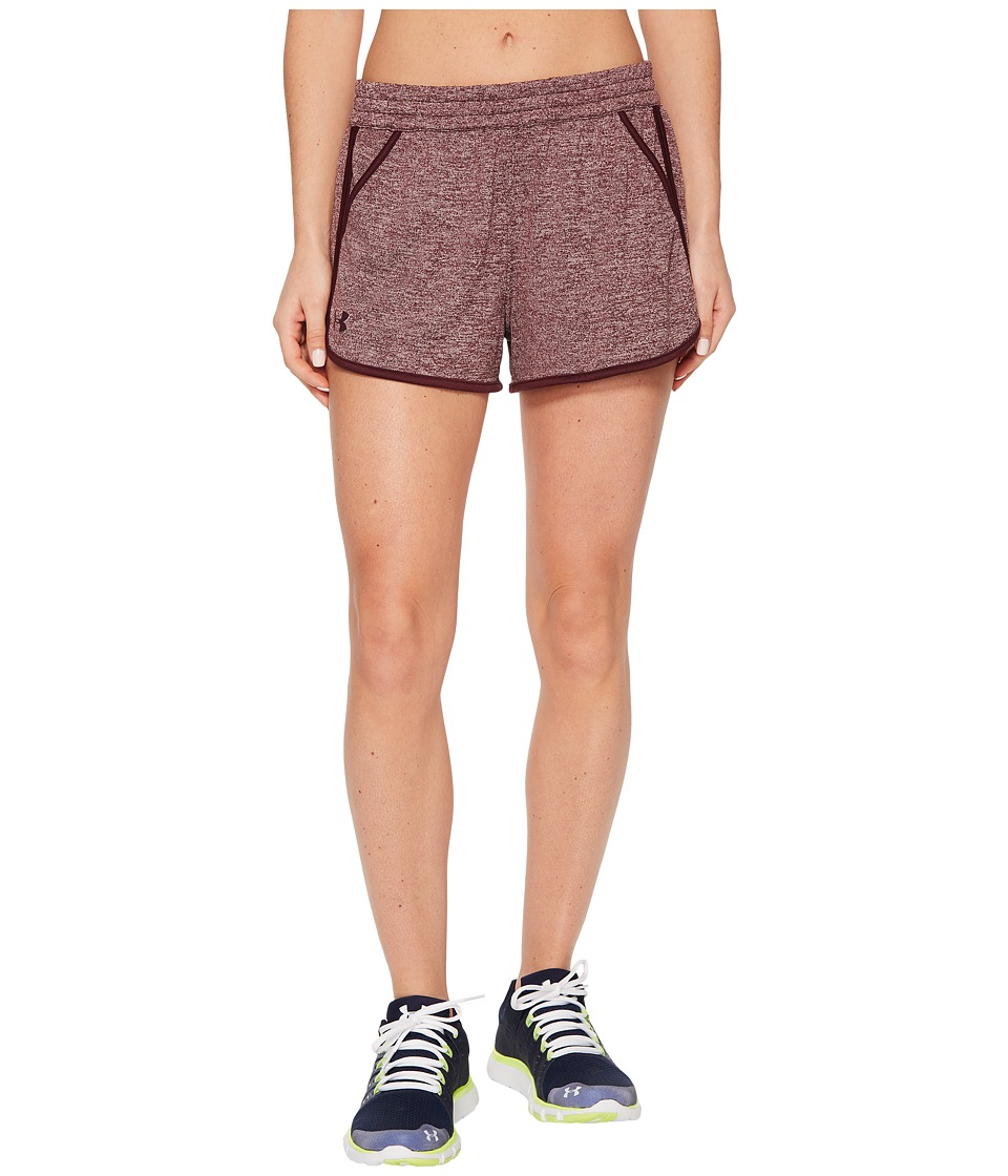 Under Armour Tech Shorts 2.0 Twist (Raisin Red) Women
