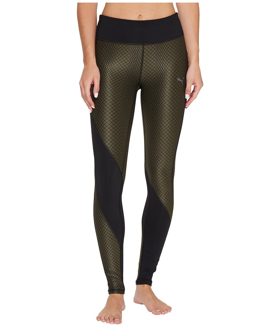 PUMA - Clash Tights (PUMA Black/No Color/Olive Night Metal Print) Women's Casual Pants
