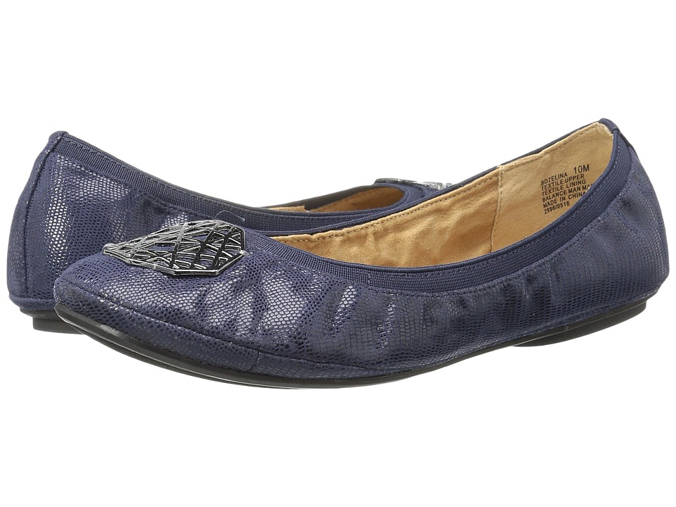 Bandolino - Elina (Navy/Navy Fabric) Women's Shoes