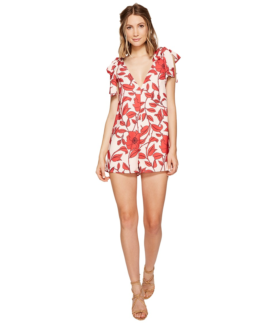 KEEPSAKE THE LABEL - All Tied Up Romper (Light Floral Print) Women's Jumpsuit & Rompers One Piece