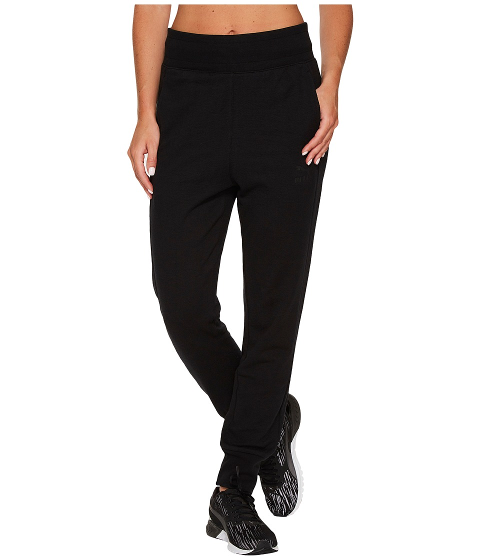 PUMA - Archive Logo T7 Structured Pants (Cotton Black) Women's Casual Pants
