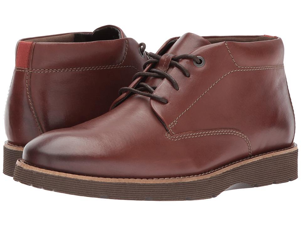 Clarks - Folcroft Mid (Dark Tan Leather) Men's Shoes