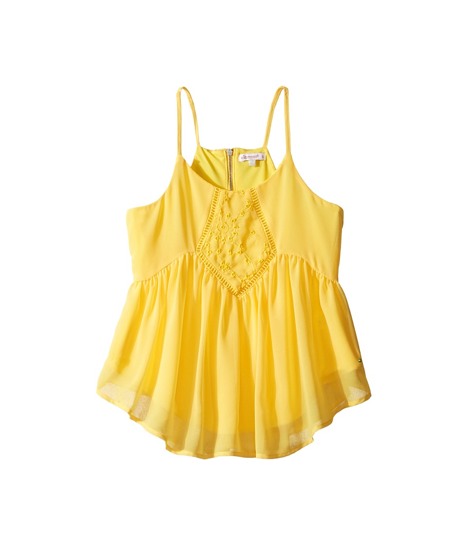 Ella Moss Girl - Daniella Baby Doll Top (Big Kids) (Yellow) Girl's Clothing