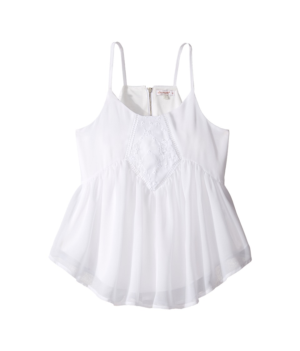 Ella Moss Girl - Daniella Baby Doll Top (Big Kids) (White) Girl's Clothing