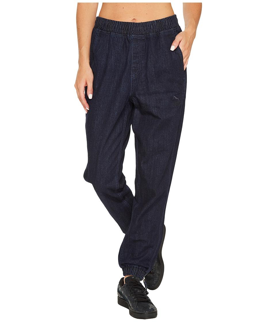 PUMA - Denim T7 Track Pants (Peacoat/Denim Blue) Women's Jeans