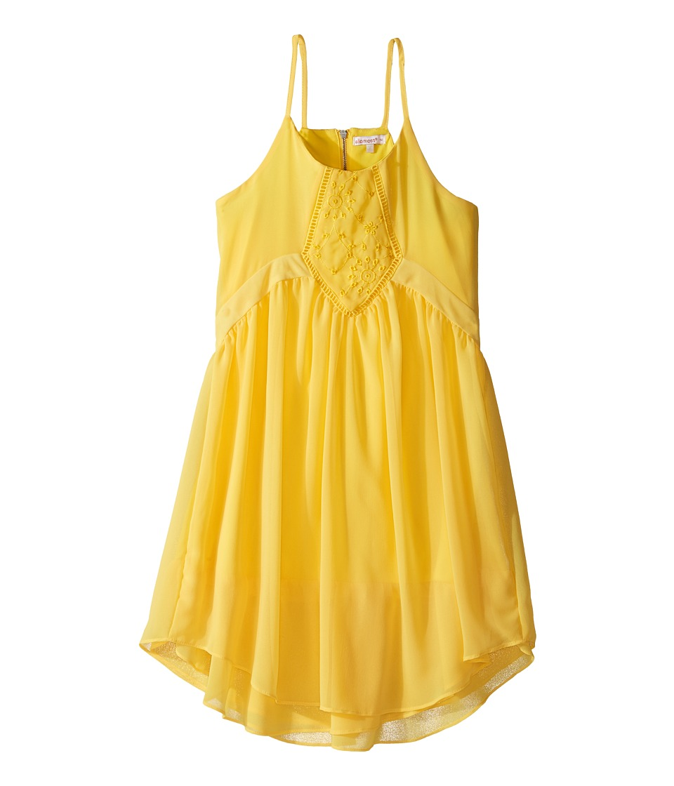Ella Moss Girl - Daniella A-Line Dress (Big Kids) (Yellow) Girl's Dress