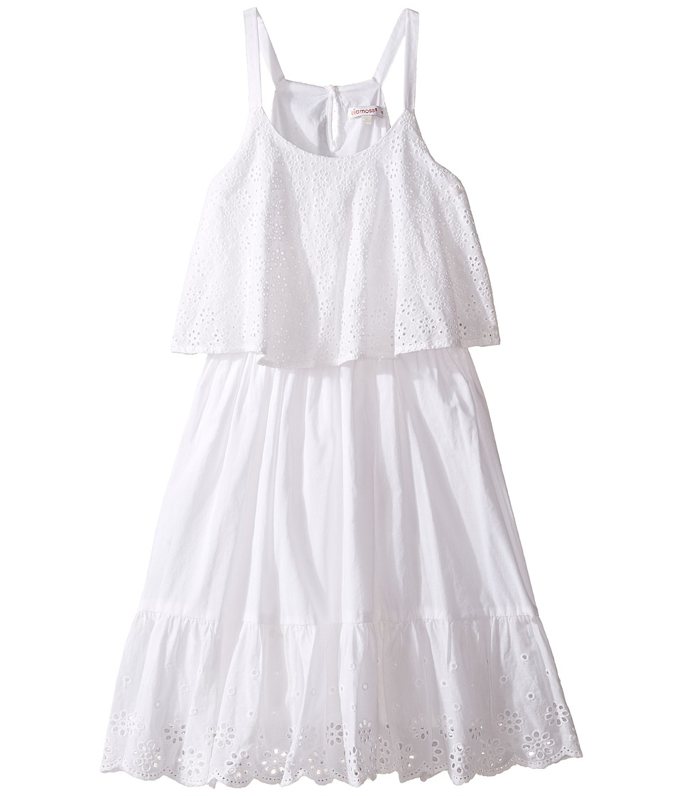Ella Moss Girl - Tiana All Over Eyelet Dress (Big Kids) (White) Girl's Dress
