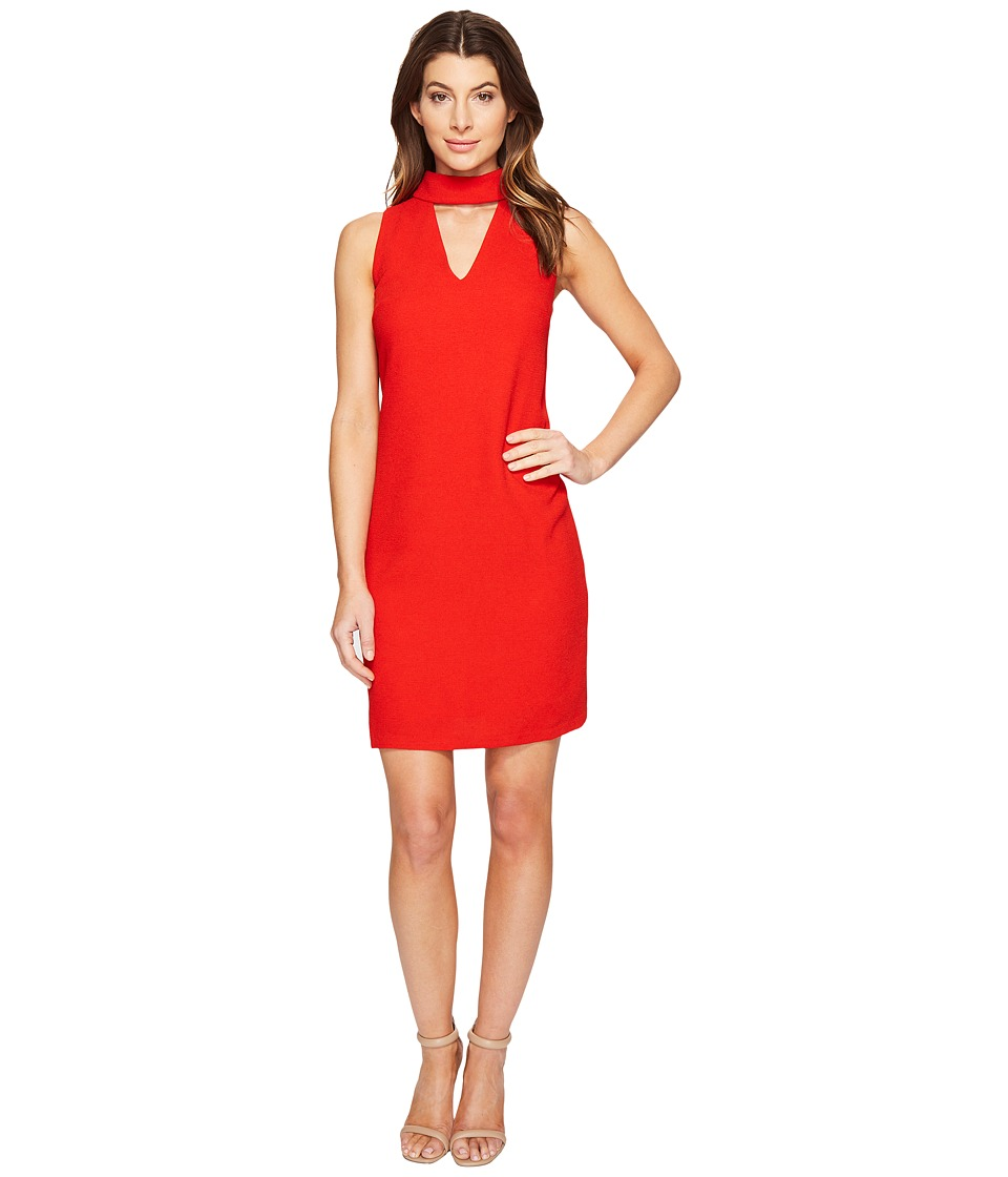 London Times - Sleeveless Shift w/ V-Neck Dress (Red) Women's Dress