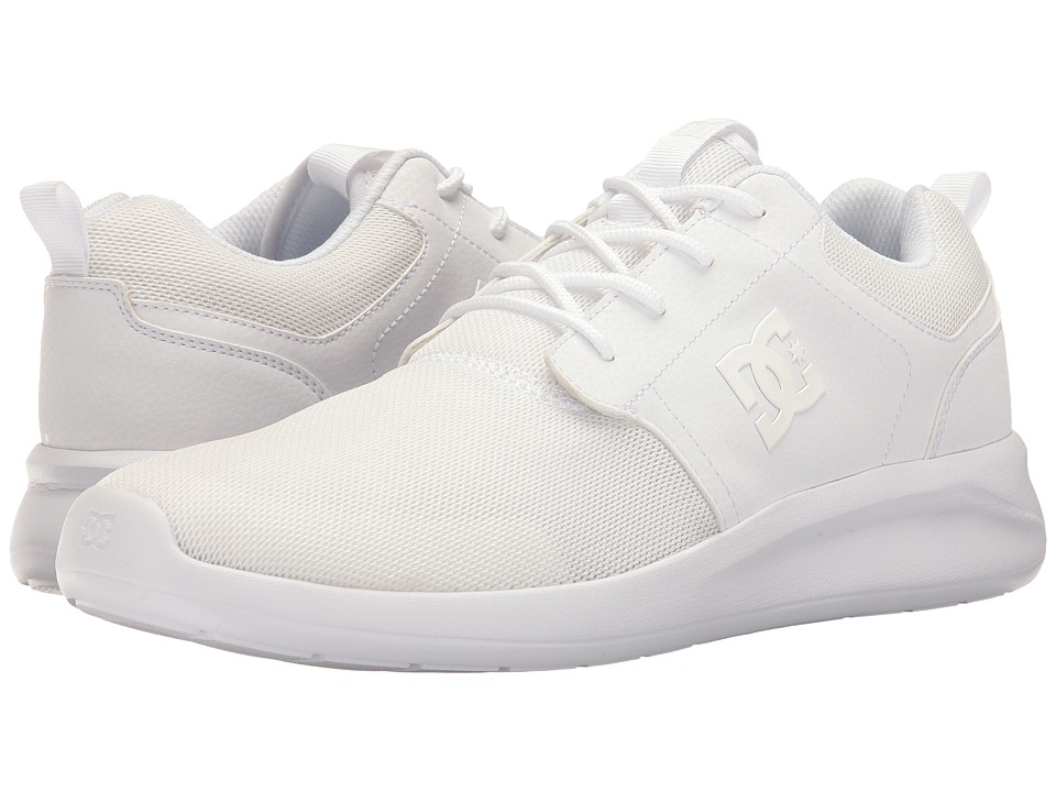 DC - Midway SN (White) Men's Skate Shoes