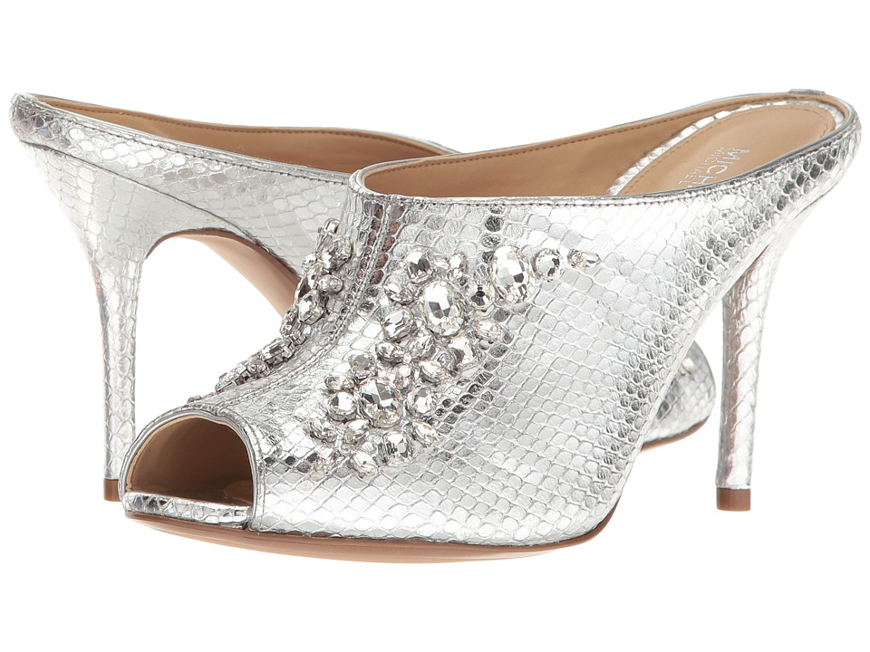 MICHAEL Michael Kors - Edie Mule (Silver) Women's Shoes