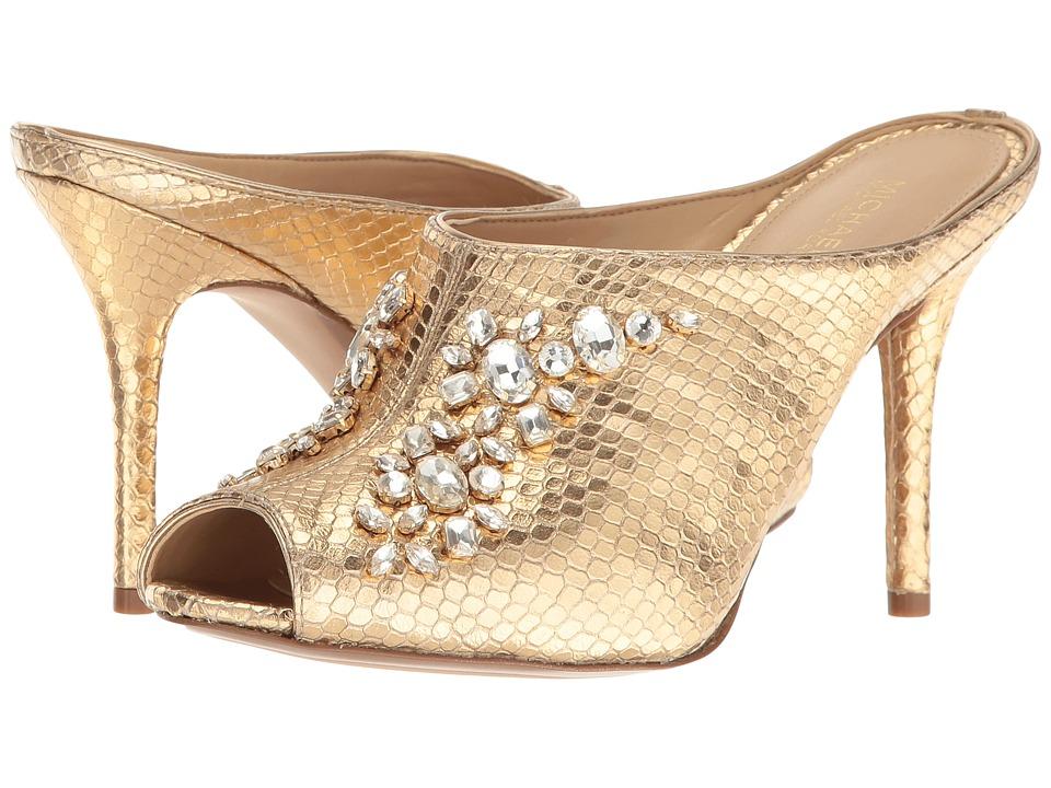 MICHAEL Michael Kors - Edie Mule (Pale Gold) Women's Shoes